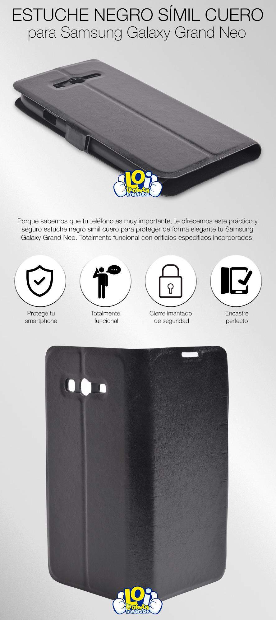 04d34e4365f Estuche Símil Cuero para Samsung Galaxy Grand Neo, oferta LOi.
